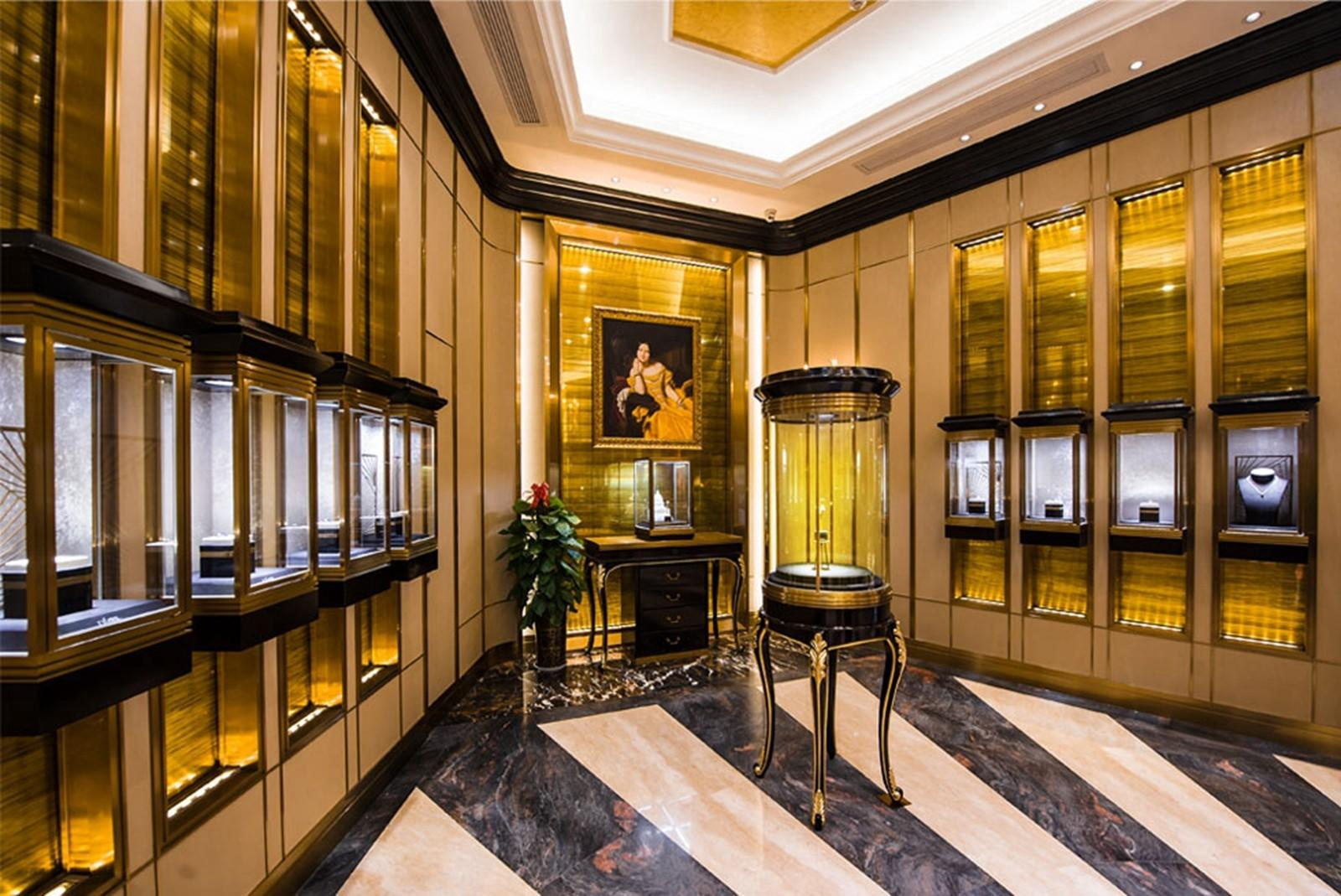 Wood jewelry displaylatest jewellery showroom design has virtues such as interior design ideas jewellery shops high stability long life and low cost